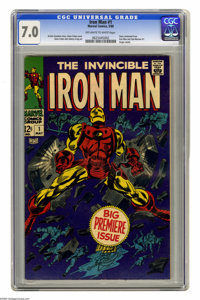 Iron Man #1 (Marvel, 1968) CGC FN/VF 7.0 Off-white to white pages. Origin retold. Gene Colan cover and art. Overstreet 2...