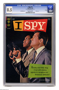 I Spy #1 File Copy (Gold Key, 1966) CGC VF+ 8.5 Off-white pages. Bill Cosby and Robert Culp photo cover. Al McWilliams a...