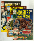 Bronze Age (1970-1979):Horror, Monsters on the Prowl Group (Marvel, 1971-74) Condition: AverageVF+. Tremble at this collection which includes Monsters o... (9Comic Books)