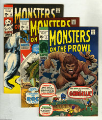 Monsters on the Prowl Group (Marvel, 1971-74) Condition: Average VF+. Tremble at this collection which includes Monsters...