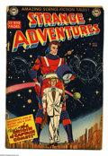 Golden Age (1938-1955):Science Fiction, Strange Adventures #9 (DC, 1951) Condition: GD-. Origin and firstappearance of Captain Comet. Carmine Infantino cover art. ...