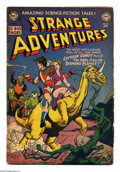 Golden Age (1938-1955):Science Fiction, Strange Adventures #12 (DC, 1951) Condition: GD+. Gil Kane coverart. Alex Toth, Murphy Anderson, and Carmine Infantino inte...