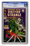 Silver Age (1956-1969):Superhero, Strange Tales #166 (Marvel, 1968) CGC NM- 9.2 Off-white pages. Robot cover. Jim Steranko and George Tuska art. Overstreet 20...