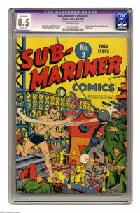 Sub-Mariner Comics #3 (Timely, 1941) CGC Apparent VF+ 8.5 Slight (A) Off-white pages. This early issue features a Winsto...