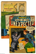 Silver Age (1956-1969):Horror, Tales of the Unexpected #2 and 8 Group (DC, 1956). Lot includes #2(art by Leonard Starr, Ruben Moreira, Mort Meskin, and Bi... (2Comic Books)