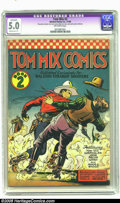 Golden Age (1938-1955):Western, Tom Mix Comics #2 (Ralston-Purina Co., 1940) CGC Apparent VG/FN 5.0 Moderate (P) Off-white pages. Here's another tough-to-fi...