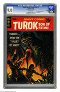 Silver Age (1956-1969):Adventure, Turok, Son of Stone Giant #1 File Copy (Gold Key, 1966) CGC VF/NM 9.0 Off-white pages. Ray Bailey and Lee Elias art. Paper c...