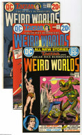Bronze Age (1970-1979):Miscellaneous, Weird Worlds #1-7 Group (DC, 1972-73) Average NM-. This groupconsists of seven comics: #1 (first DC appearance of John Cart...(7 Comic Books)
