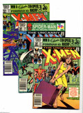 Modern Age (1980-Present):Superhero, Uncanny X-Men Group (Marvel, 1981-2003) Condition: Average NM-.This short box lot includes more than 130 different issues o...