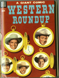 Golden Age (1938-1955):Miscellaneous, Dell Giant Comics Western Roundup #9-12 Bound Volume (Dell, 1955). These are Western Publishing file copies that have been t...