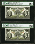 Canadian Currency, Montreal, PQ- Bank of Montreal $5 Jan. 2, 1935 Ch. # 505-60-02 Two Consecutive Examples.. ... (Total: 2 notes)