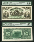 Canadian Currency, Montreal, PQ- Bank of Montreal $50 Jan. 2, 1891 Ch. #505-40-08FP/BP Face/Back Proofs.. ... (Total: 2 notes)
