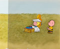 Animation Art:Production Cel, You're in Love, Charlie Brown Sally and Charlie BrownProduction Cel Setup with Master Painted Background (Bill Melend...