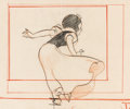 Animation Art:Production Drawing, Snow White and the Seven Dwarfs Two-Sided Layout Drawing(Walt Disney, 1937)....