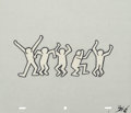 Works on Paper, After Keith Haring . Sesame Street Break-Dancers, (three works). Marker on overhead sheet. 10-1/2 x 12-1/2 inches (26.7 ...