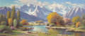 Fine Art - Painting, American, Paul Grimm (American, 1891-1974). God's Creation. Oil oncanvas. 32 x 72 inches (81.3 x 182.9 cm). Signed lower left:...