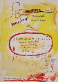 After Jean-Michel Basquiat (American, 1960-1988) Supercomb Exhibition Poster, 1988 Offset lithograph