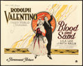 "Movie Posters:Drama, Blood and Sand (Paramount, 1922). Title Lobby Card (11"" X 14"").. ..."
