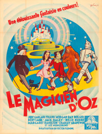 """The Wizard of Oz (MGM, 1946). First Post-War Release French Grande (47.5"""" X 62.5"""") Boris Grinsson Artwork"""