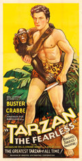 "Movie Posters:Serial, Tarzan the Fearless (Principal Distributing, 1933). Three Sheet(41"" X 79.5"").. ..."