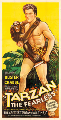 "Tarzan the Fearless (Principal Distributing, 1933). Three Sheet (41"" X 79.5"")"