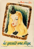 "Movie Posters:Fantasy, I Married a Witch (United Artists, 1945). First Post-War ItalianFoglio (27.5"" X 39"") Ercole Brini Artwork.. ..."