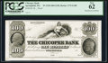 Obsoletes By State:Massachusetts, Springfield, MA- Chicopee Bank $100 18__ G100 Proof. ...