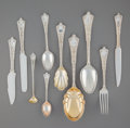 Silver Flatware, American:Tiffany, A Forty-Piece Tiffany & Co. Persian Pattern SilverFlatware Group, New York City, designed 1872 by Edward C. Moo...(Total: 40 Items)