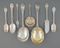 Silver Flatware, American:Durgin, A Thirteen-Piece William B. Durgin Co. Dauphin PatternSilver Flatware Group, Concord, New Hampshire, designed 1...(Total: 13 Items)