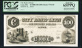 Obsoletes By State:Massachusetts, Lynn, MA- City Bank of Lynn $100 18__ G18 Proof. ...