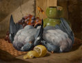Paintings, Charles Thomas Bale (British, 1826-1925). Still Life with Fruit and Birds. Oil on canvas. 14 x 18 inches (35.6 x 45.7 cm...