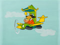 Animation Art:Presentation Cel, Hong Kong Phooey Publicity Cel on Painted Background(Hanna-Barbera, 1974)....