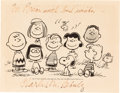 Animation Art:Poster, Charlie Brown and Friends Publicity Print Signed by Charles Schulz(United Feature Syndicate, c. 1968)....