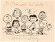 Charlie Brown and Friends Publicity Print Signed by Charles Schulz (United Feature Syndicate, c. 1968)