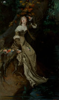 Fine Art - Painting, European:Antique  (Pre 1900), Charles Louis Lucien Muller (French, 1815-1892). Ophelia.Oil on canvas. 39 x 24 inches (99.1 x 61.0 cm). Signed with in...