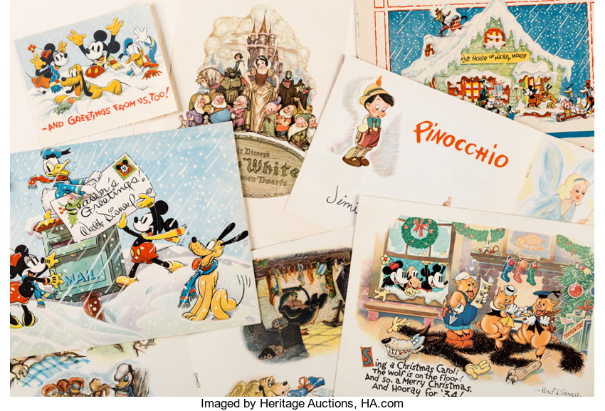 Disney Christmas Cards.Walt Disney Studio Christmas Cards Walt Disney C 1930s