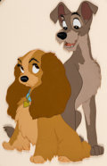 Animation Art:Presentation Cel, Lady and the Tramp Publicity Cel (Walt Disney, 1955)....