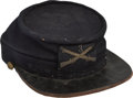 Military & Patriotic:Indian Wars, Model 1872 Kepi Worn by a Trooper of the 3rd Infantry....