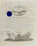 Military & Patriotic:Civil War, Thomas McDougall's Appointment as 2nd Lieutenant. ...