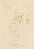 Animation Art:Color Model, Peter Pan Tinker Bell Color Model Drawing (Walt Disney,1953)....