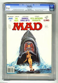 "Magazines:Mad, Mad #204 (EC, 1979) CGC NM+ 9.6 Off-white pages. ""Jaws II"" cover and parody. ""Incredible Hulk"" TV show spoof. Jack Rickard c..."