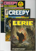 Magazines:Horror, Warren Eerie and Creepy Group (Warren, 0) Condition: Average FN. This partial short box lot includes Creepy #3 (Frank Fr...