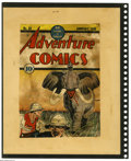 Original Comic Art:Covers, Fred Guardineer - Adventure Comics #34 Cover Color Printer's Proof(DC, 1939). An angry bull elephant is the last thing you ...
