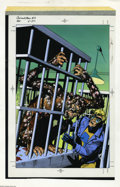 Original Comic Art:Miscellaneous, Lovern Kindzierski - Animal Man #3 Cover Blue-line Color GuideProduction Art (DC, 1988). A deadly plague is detailed in thi...