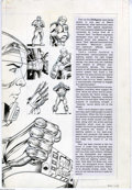 "Original Comic Art:Splash Pages, Will Meugniot - DNAgents #13 ""Tank"" Fact File Splash Pages 30 and31 Original Art (Eclipse,1984 ). Four pages of art, drawn ... (4items)"