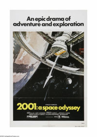 "2001: A Space Odyssey (MGM, R-1980). One Sheet (27"" X 41""). Offered here is a vintage, theater-used poster for..."