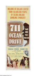"Movie Posters:Film Noir, 711 Ocean Drive (Columbia, 1950). Insert (14"" X 36""). Offered here is a vintage, theater-used poster for this noir thiller t..."