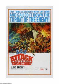 "Attack on the Iron Coast (United Artists, 1968). One Sheet (27"" X 41""). Offered here is a vintage, theater-use..."