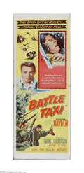 "Movie Posters:War, Battle Taxi (United Artists, 1955). Insert (14"" X 36""). Offered here is a folded, vintage, theater-used poster for this war ..."