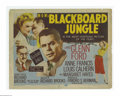 """Movie Posters:Drama, The Blackboard Jungle (MGM, 1955). Title Lobby Card (11"""" X 14""""). Offered here is a vintage, theater-used title card for this..."""
